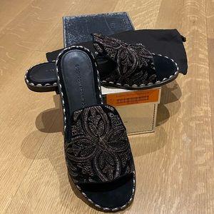NEW Sigerson Morrison Estee Velvet Slides Sandals